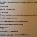 Trainerfortbildung Januar 2019